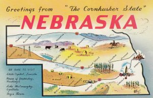 Lincoln, Nebraska, , 50-60s,  The Cornhusker State