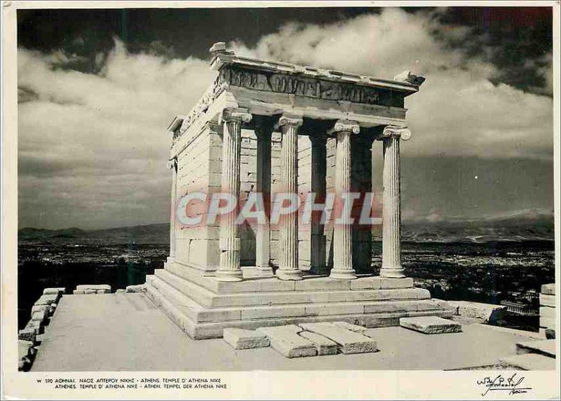 Postcard Modern Athens Temple D Athena Nice