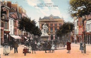 France Lorient Le Cours de la Bove et le Theatre Statue