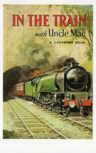 In The Train With Uncle Mac Ladybird First Edition Book Postcard