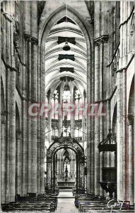 Modern Postcard Evreux (Eure) Interior of the Cathedral