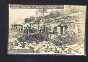 RPPC WWI BATTLE ACTION BATTLEFIELD US DOUGHBOYS TRENCHES REAL PHOTO POSTCARD