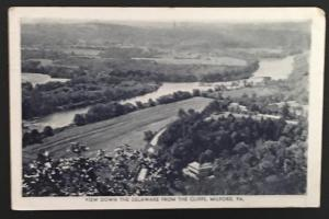 View Down the Delaware from the Cliffs Milford PA 1948 Eagle Post Card View Co