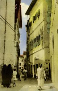 tanzania, ZANZIBAR, Main Street (1930s)