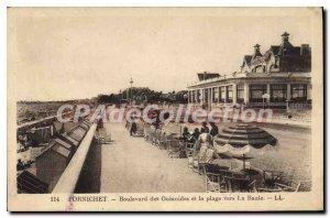 Postcard Old Pornichet Boulevard Des Oceanides And The Beach Towards La Baule