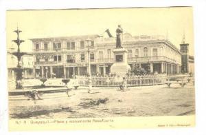 Plaza y Monumento Rocafuerte  ,Guayaquil , Ecuador , 1890s-1905 FOTOGRAFIA ...