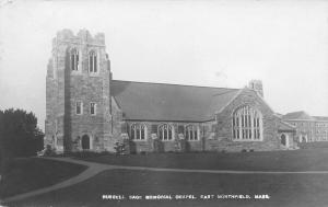 East Northfield~SHARP! Real Photo Postcard-Russell Sage Memorial Chapel~c1910
