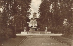 Germany Sanssouci Durchblick zur Mühle RPPC 06.94