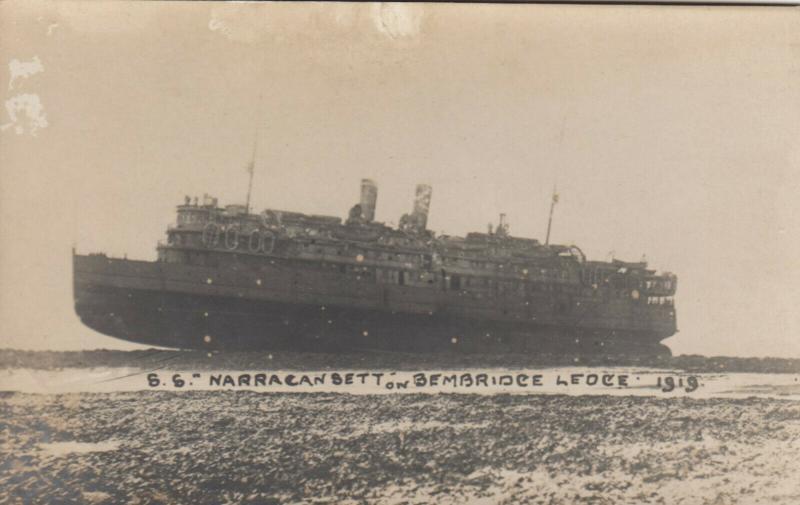 RP: USS Narragansett Stranded on Bembridge Ledge, Isle of Wight , 1919