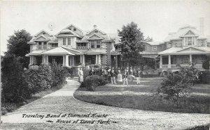 LP51   Benton Harbor  Michigan  Postcard Diamond House Traveling Band