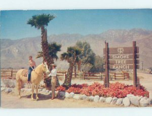 Pre-1980 VINTAGE SIGN ON CARD Palm Springs by Anaheim & Los Angeles CA AD5924