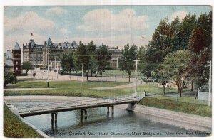 Old Point Comfort, Va., Hotel Chamberlin, Moat, Bridge, etc.