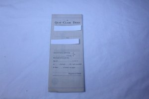 Vintage 1906 Quit Claim Deed with Notary Stamp Fenton, MI