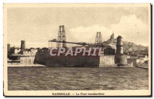 Old Postcard Marseille Transporter Bridge