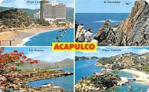 Mexico Old Vintage Antique Post Card El Clavadista, Los Muelles Acapulco Post...