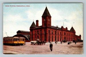 Minneapolis MN-Minnesota, Union Station, Vintage Postcard