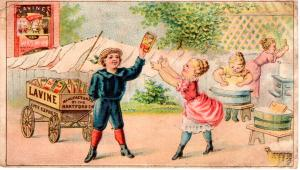 VICTORIAN TRADE CARD, LAVINE SOAP,