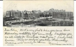 RARE NEW YORK CITY UPPER WEST SIDE COLUMBIA UNIVERSITY FROM GRANTS TOMB, NYC