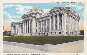Street view showing County Courthouse, Pueblo, Colorado,  00-10s