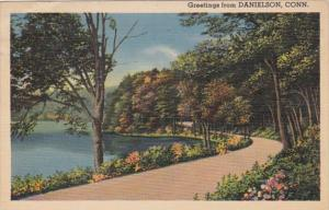 Connecticut Greetings From Danielson 1941