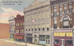 Masonic Hall And Post Office, Mt. Carmel, Pennsylvania, 1930-1940s