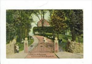 Jefferson South Entrance To Elmwood Park, Roanoke, Virginia, PU-1912