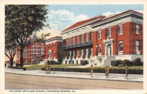 Fortress Monroe Virginia~Cadets in Front of Coast Artillery School~1920s