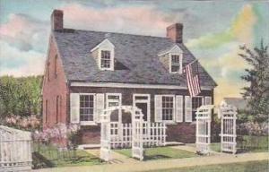 Michigan Dearborn Barbara Fritchie House Handcolored Albertype