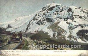 Quebrada De Viscas Ferrocarril Central Del Peru, Peru 1908