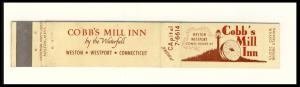 Weston/Westport, Conn/CT Mini-Matchcover, Cobb's Mill Inn