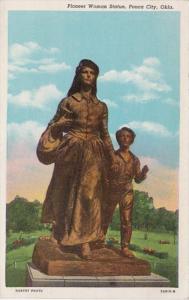 Oklahoma Ponca City Pioneer Woman Statue Curteich