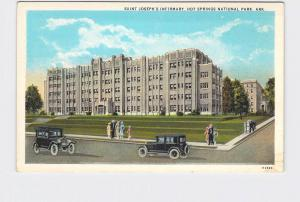 ANTIQUE POSTCARD NATIONAL STATE PARK HOT SPRINGS ST JOSEPH'S INFIRMARY