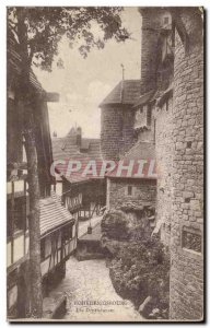 Old Postcard Hohkoenigsbourg The outbuildings