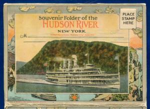 Hudson River New York souvenir Postcard Folder 1920s