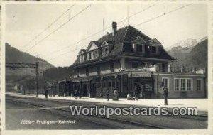 Frutigen Bahnhof Swizerland Stamps on back