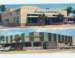 Unused Pre-1980 BISCAYNE CAFETERIA RESTAURANT Miami & Miami Shores FL B8222@
