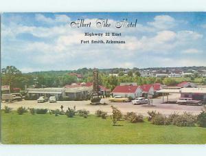 Unused Pre-1980 OLD CARS & ALBERT PIKE MOTEL Ft. Fort Smith Arkansas AR u1687
