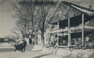 USA A Winter day and Old time sleigh Store Weston 03.21