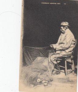 Fisherman Mending Nets , 1930s