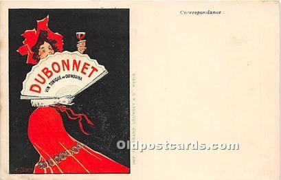 Postcard Advertising Dubonnet Collection ad Antique CPM