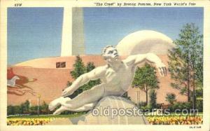 The Crest 1939 New York USA, Worlds Fair Exposition, Postcard Post Card Unused