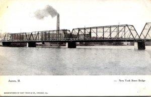 Illinois Aurora New York Street Bridge Curteich