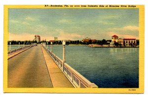 FL - Bradenton. View from Palmetto Side of Manatee River Bridge