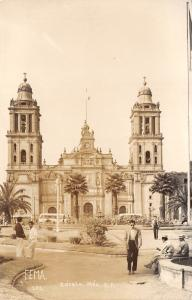 Mexico City~Guadalupe Cathedral on Square~Felt Like A Mexican~FEMA RPPC 1951