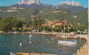 Talloires Port Et Les Dents De Lanfon Harbour Marine Postcard