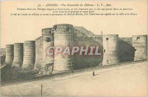 Old Postcard Angers Chateau General Overview