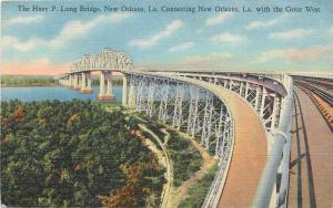 Huey P Long Bridge New Orleans La Louisiana Postcard