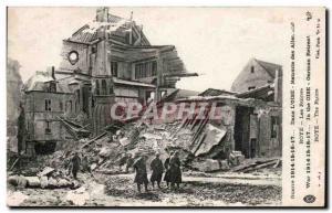 Old Postcard Roye Ruins