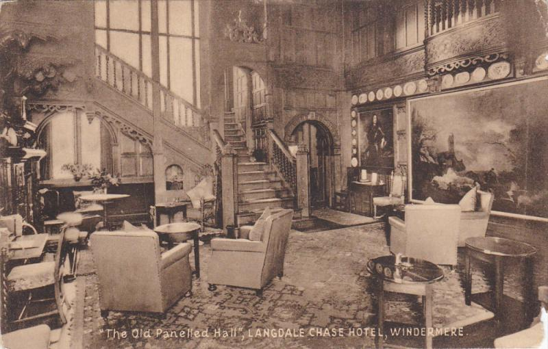 the Old Panelled Hall , Langdale Chase Hotel , WINDERMERE , 00-10s