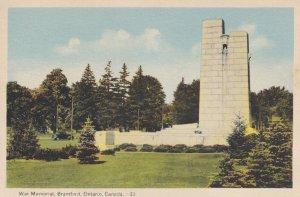 BRANTFORD, Ontario, Canada, 1900-1910's; War Memorial
